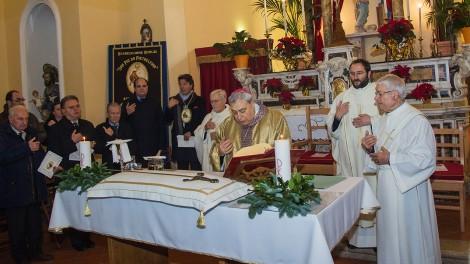 Messa presieduta dal vescovo