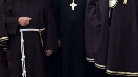 L'Arcivescovo Mugione con P. Marciano Morra e il priore
