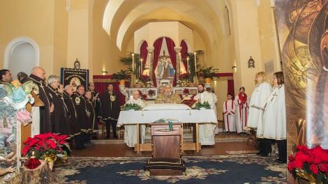 La Celebrazione presieduta dall'Arcivescovo mons. Andrea Mugione, concelebrano P. Marciano Morra e Don Nicola Gagliarde