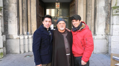 Andrea e Giorgio Muntoni con padre Gerardo - Andrea e Giorgio Muntoni con P. Gerardo Saldutto.