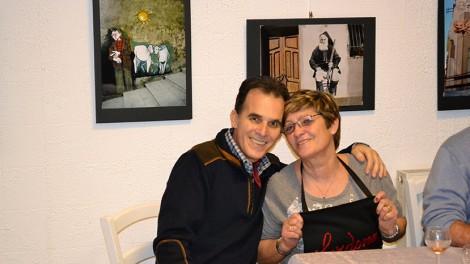 Sergio Muntoni e Mina Puddu alla cena di chiusura presso L'associazione Sardinia - Sergio Muntoni e Mina Puddu alla cene di chiusura presso l'Associazione Sardinia.