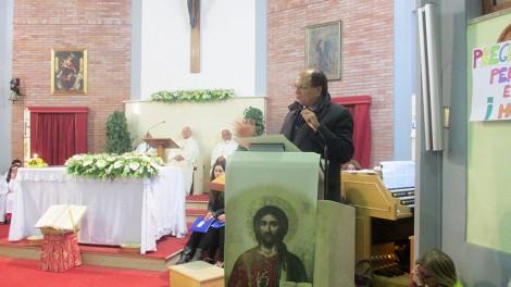 """Gianni in chiesa - Il saluto del direttore associazione """"Amici di Padre Pio"""""""