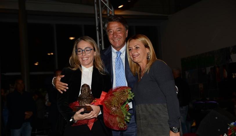La d.ssa Matano con il priore Giovanni Pimpinella e l'avv. Daniela Costanzo