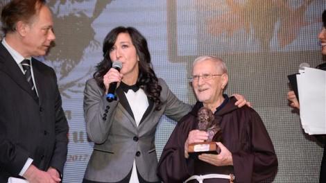 Emanuela Aureli con P. Marciano Morra