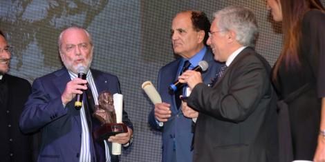 De Laurentiis insieme al sindaco di Pietrelcina e il dr. Gianni Mozzillo