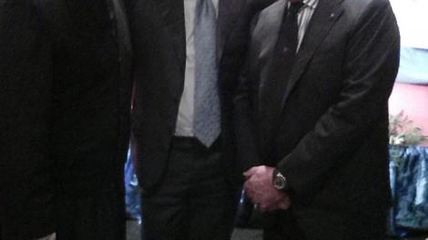 Don Nicola e il Priore Giovanni Pimpinella con il presidente Aurelio De Laurentiis