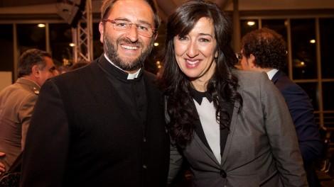 Coin il presidente del Premio Don Nicola Gagliarde - Il presidente don Nicola con Aureli