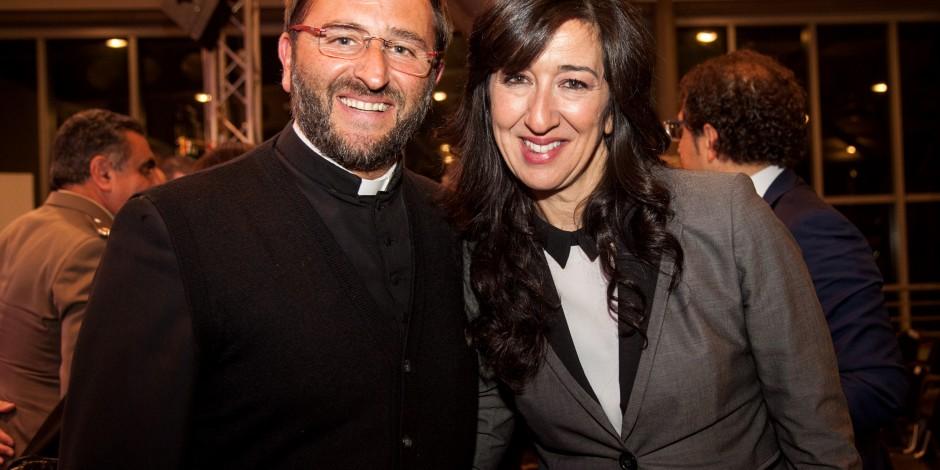Il presidente don Nicola con Aureli