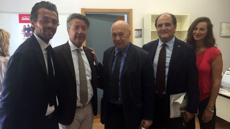 Priore Araldi direttore con il giornalista Paolo Mieli - Il priore e il direttore degli Araldi insieme a Paolo Mieli